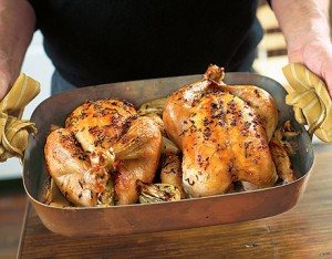 apple roasted chicken de 91552433 300x234 Go Roast a Chicken